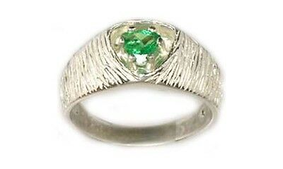 Antique 19thC 2/3ct Colombian Emerald 4,000 B.C. Babylonian Gem Market Sterling