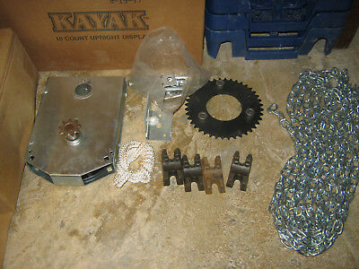 roll up door parts includes chain, gear box, sprocket, some bolts.
