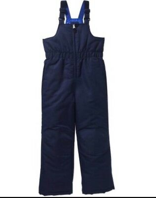 NWT Faded Glory Boys Snow Suit Bibs Overalls Size Small 6-7 Navy Blue
