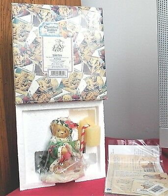 """Cherished Teddies WOLFGANG """" The Spirit Of Christmas Is In Us All """" - 206701"""