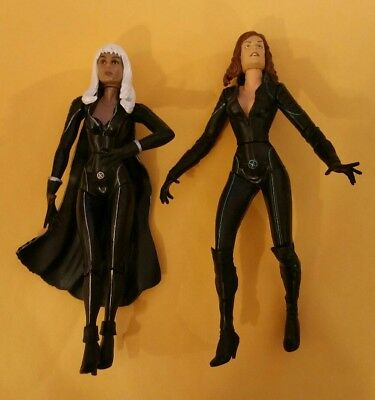 Marvel X Men X2 Movie Storm AND Jean Grey Long Hair Action Figures
