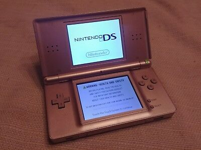 Nintendo DS Lite Metallic Pink (Rose) System with super Mario USED READ bin 48