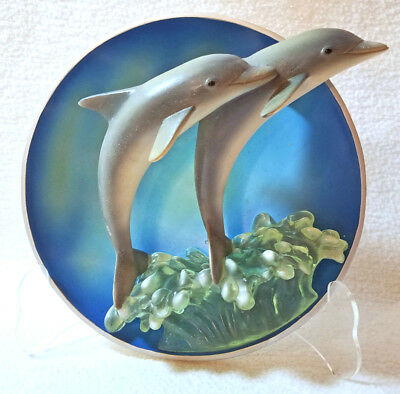 Bradford Exchange Reaching For The Sun Dolphin 3D Plate Limited Edition