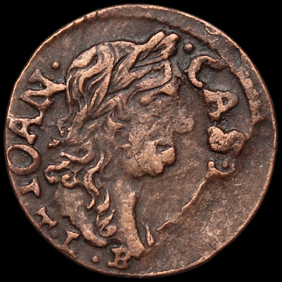 POLAND. Jan of Casimir Hammered Solidus, Regal Eagle, 1660's