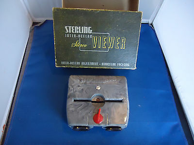 Sterling Stero viewer vtg steroview with box photo slide mid century