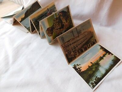 Vtg Antique Turn Of The Century Winona Mn Fold Out Souvenir Postcards Wow !!