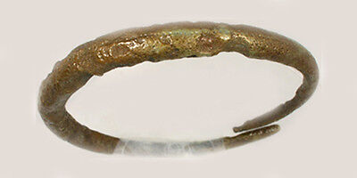Genuine Ancient Roman Judaea Bronze Leech Style Bangle 100AD Bracelet