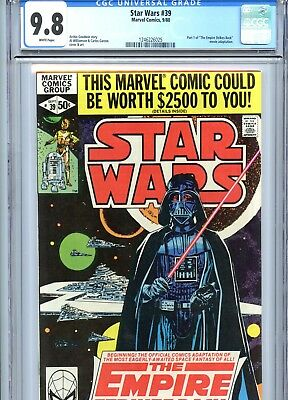 Star Wars #39 CGC 9.8 White Pages Marvel Comics 1980