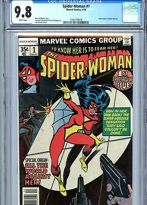 Spider-Woman #1 CGC 9.8 White Pages Marvel Comics 1978