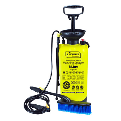 8L High Pressure Sprayer Washer Power Pump Car Jet Wash Brush Hose Lance Cleaner