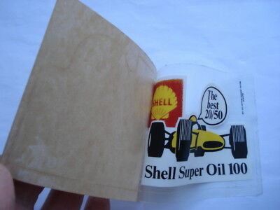 Scarce C1960S Shell Super Oil 100 The Best 20-50 Motor Oil Unused Window Sticker
