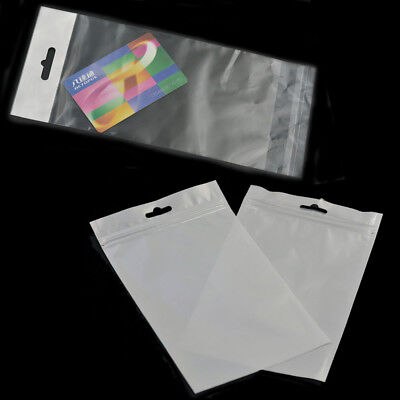 Resealable Cello Cellophane Bag Poly With Hang Hole Tag Flap Sleeve Storage AAA