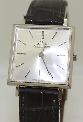 Vintage JAEGER LE COULTRE JLC 18K White Gold Manual Wind Watch Cal. 838 P838