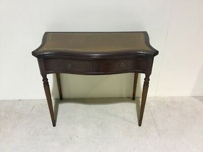 Leather Top Desk Regency Design Mahogany Ladies Desk / Table Hall Table