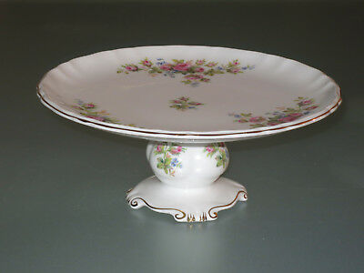 Porzellan Konfektplatte Schale Royal Albert Bone China Moss Rose