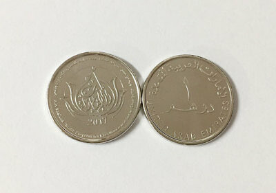 Uae 1 Dirham 2017 Mother Of Nation Comm. Coin Unc Nr
