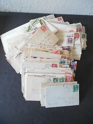 Lot of 100 Antique to Vintage US Covers w/ Hand Written Letters Correspondence