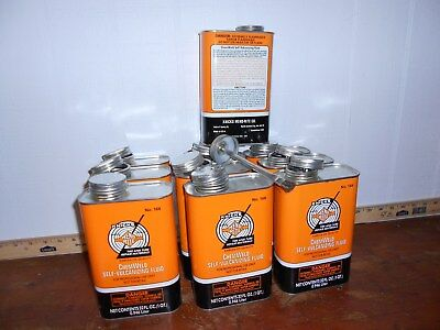 10 can lot mend rite  tire repair chem weld cans gas oil service station sign