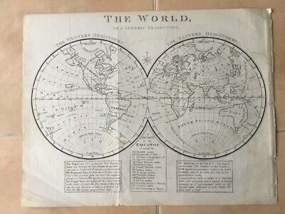 origional MAP 1851 The World Spherical Projection