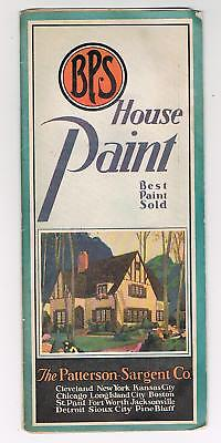 Bps House Paint Brochure/color Sample - Circa 1920's/30's - Patterson/sargent Co