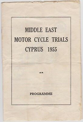 Middle East Motor Cycle Trials Nicosia Cyprus 1955 Army Motor Cycling 16 Pages