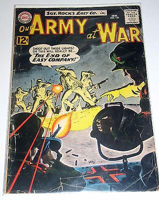 SGT ROCK in OUR ARMY AT WAR #126  DC SILVER AGE WAR 1962  END OF EASY COMPANY