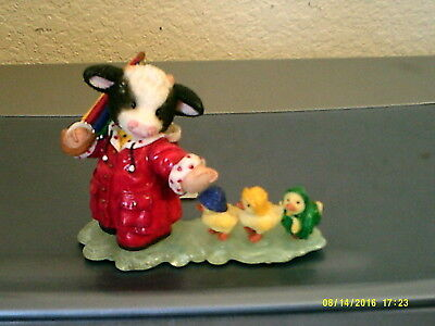 "Mary's Moo Moos ""Fair Feathered Friends"" ducklings figurine FREE SHIP 1997"
