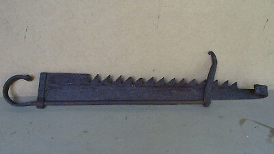 Large early19th C hand forged iron trammel, no reserve *