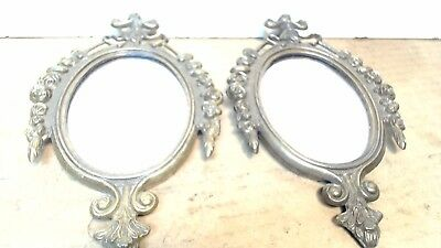Vintage Small Ornate-Pair-of Mirrors