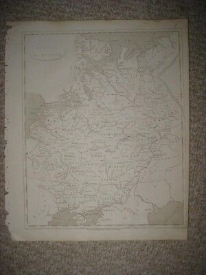 Mint Antique 1805 Russia In Europe Arrowsmith & Lewis Copperplate Map Crimea Nr