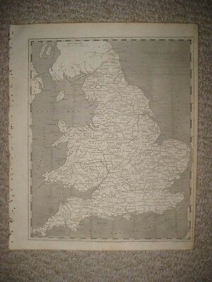 Mint Antique 1805 England Wales Arrowsmith & Lewis Copperplate Map Detailed Rare