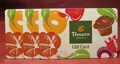 Lot of Three (3) Panera Bread Collector Gift Cards New Unused No Monetary Value