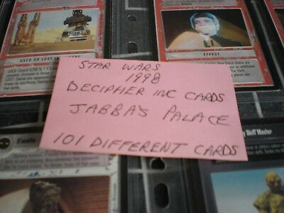 STAR WARS DECIPHER CARDS 1998 JABBA's PALACE EXPANSION  (BUNDLE OF 101)