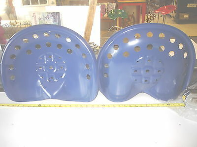 6  New Blue  Antique Style Horse Farm Machine & Tractor Metal Bar Stool Seat