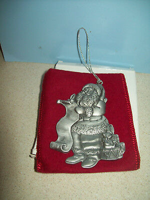 Avon Pewter Christmas Ornament 1996  with Box