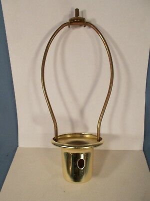 Vintage 6&1/2 in Brass Plated Lamp Harp Threaded top for Finial & Socket Holder