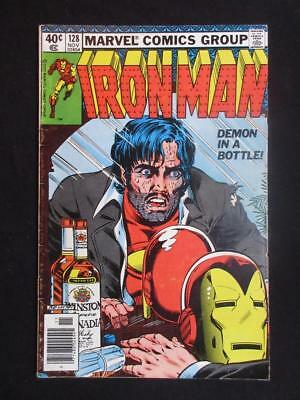 Iron Man #128 MARVEL 1979 - classic Tony Stark alcoholism cover - Stan Lee!!!!!