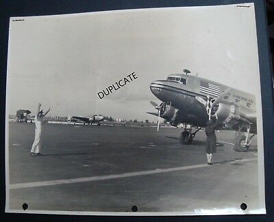"""Vintage Pair Of Early Photographs - Pan-Am Airways Miami 10 1/2"""" X 8"""""""