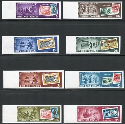 TOGO 70th ANNIVERSARY OF TPGP STAMPS IMPERFORATE SET   MINT HINGED