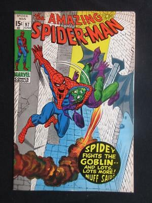 Amazing Spider-Man #97 MARVEL 1971- drug book, not approved by CCA/ Green Goblin