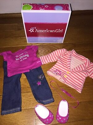 American Girl Truly Me Bright Stripes Outfit for Dolls in Box complete