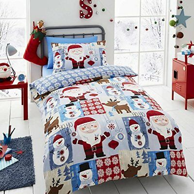 Happy Linen Co Santa Patch Christmas Boys Girlsduvet Cover Bedding Set By Happy