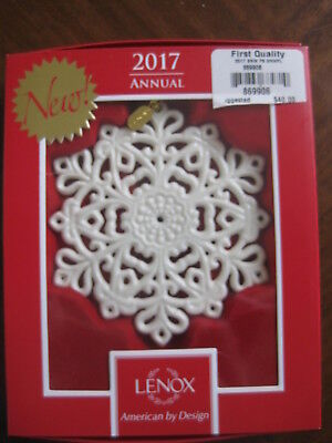 2017 Lenox Snow Fantasies Fantasy Snowflake Flake Flakes Christmas Tree Ornament