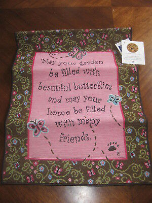 Boyds Bears May Your Garden be Filled with Butterflies NEW Wall Tapestry Cute!