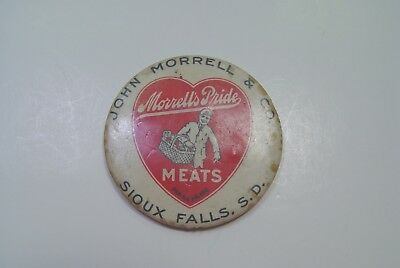 Advertising Pocket Mirror For Morrell's Pride Meats Of Sioux Falls, S.d.