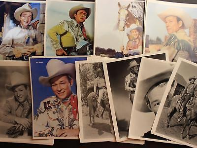 LOT: 50 CONTEMPORARY PHOTOGRAPHS of 1940s-1950s WESTERN COWBOY ROY ROGERS~