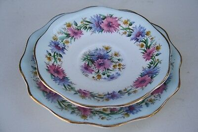 Adorable Foley Cornflower Bone China Plate and Saucer (no cup)
