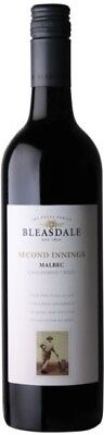 Bleasdale `Second Innings` Malbec 2016 (6 x 750mL), Langhorne Ck, SA.