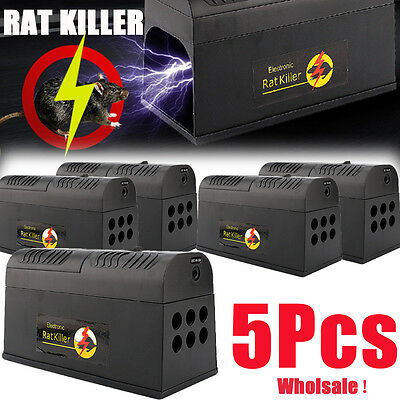 5Pack Rodent Killer Electric Electronic Rat Mouse Mice Repellant Trap AU SHIP
