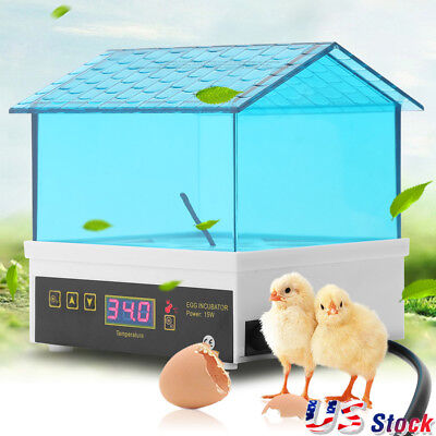 4 Digital Clear Egg Incubator Hatcher Egg Turning Temperature Control Chick Duck